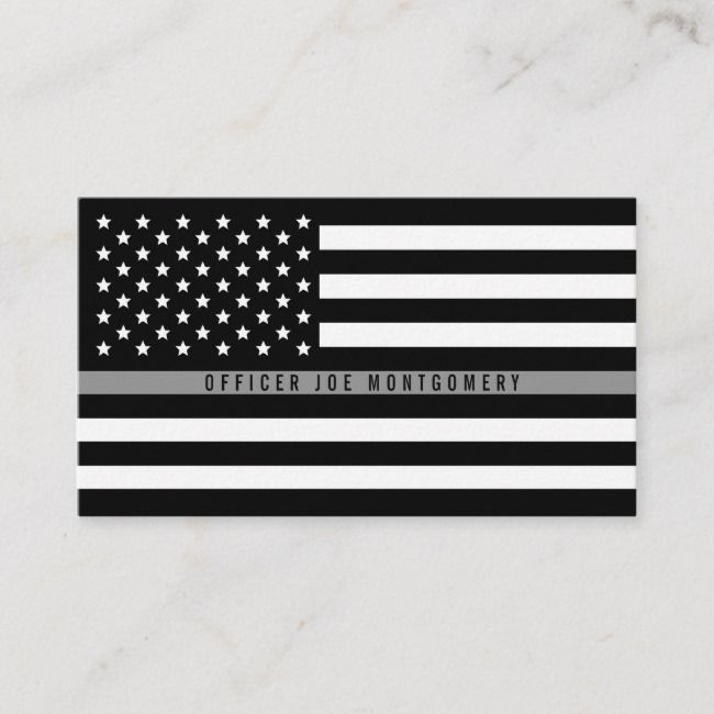 Thin Gray Line American Flag Professional Business Card Zazzle Com Professional Business Cards Printing Double Sided American Flag