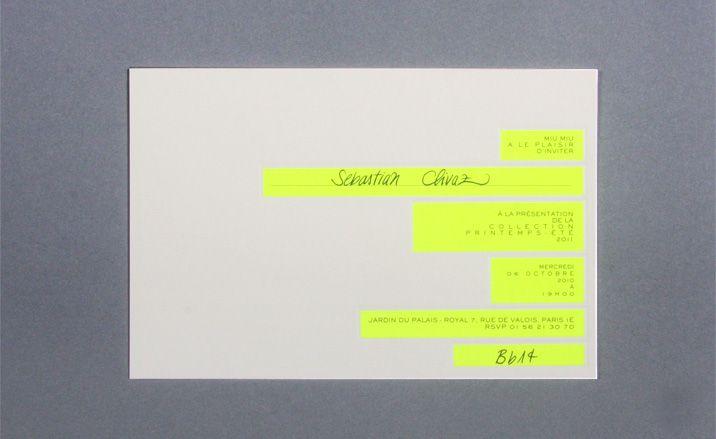 Womenswear collections S/S 2011: show invitations | Fashion | Wallpaper* Magazine: design, interiors, architecture, fashion, art