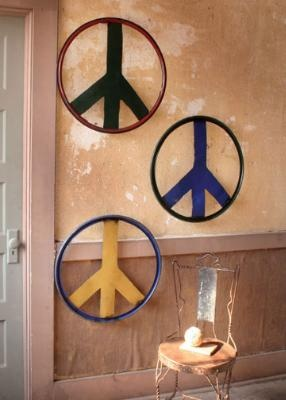 Recycled Peace Signs