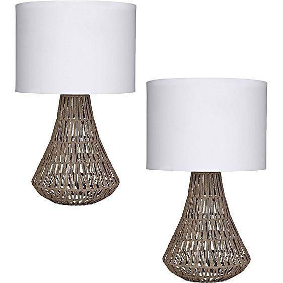 Capri Table Lamp (Set of 2) by Amalfi   Zanui
