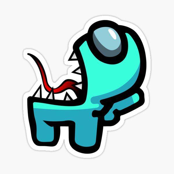 Among Us Hd Blue Imposter Sticker By Mattxc Preppy Stickers Fun Stickers Print Stickers