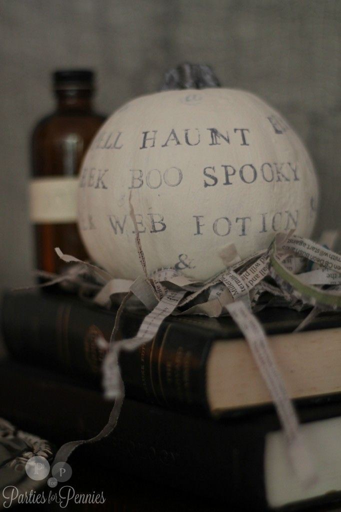 Halloween Decor - typography pumpkin