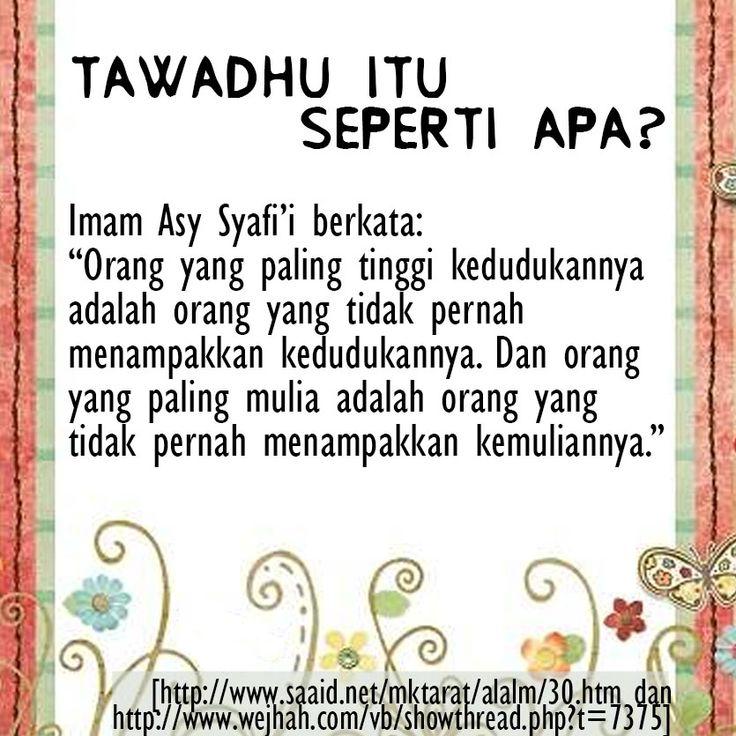 NASIHAT PARA ULAMA TENTANG TAWADHU