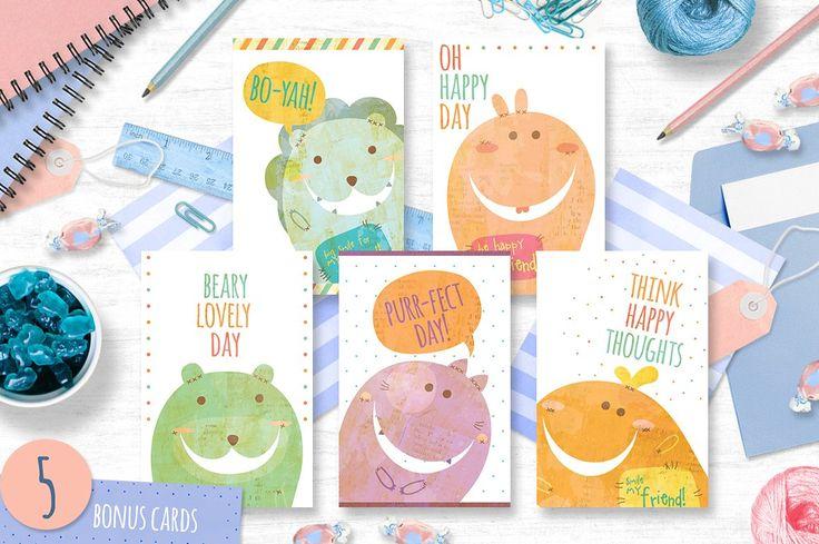The Book Biters + bonus cards by Euonia Meraki on @creativemarket  BONUS cards.. Hohoho :D