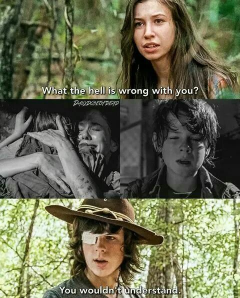 Carl and Enid. This line made me so sad