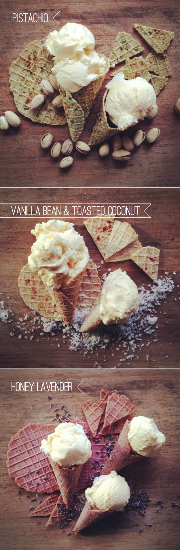 The Full Flavor Family: Sophisticated Ice Cream Cones