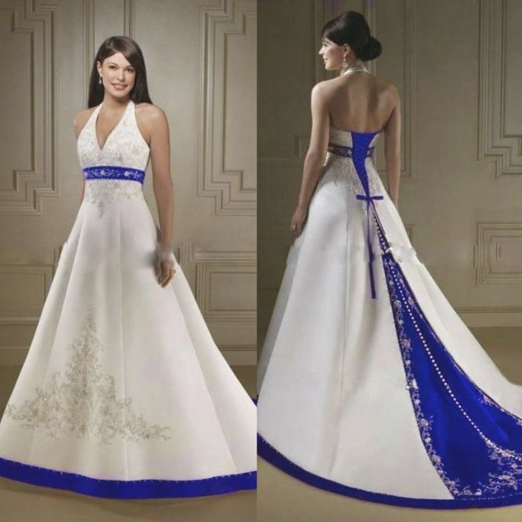 31 Royal Blue And White Wedding Dresses
