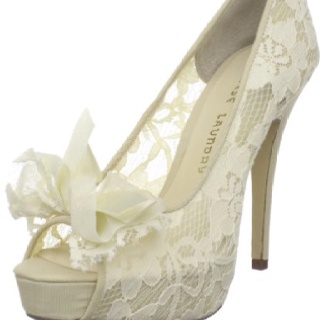 Too gorgeous.Chinese Laundry, Lace Heels, Wedding Shoes, Platform Pump, Lace Wedding, Wedding Heels, White Lace, Lace Shoes, Bridal Shoes