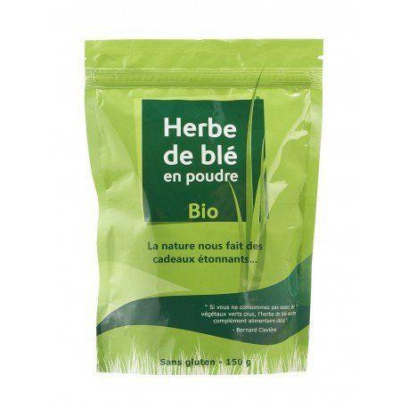 Herbe de blé en poudre BIO.: Notre herbe de blé (Triticum aestivum-blé tendre) estcultivée en bio dans les grandes plaines de…