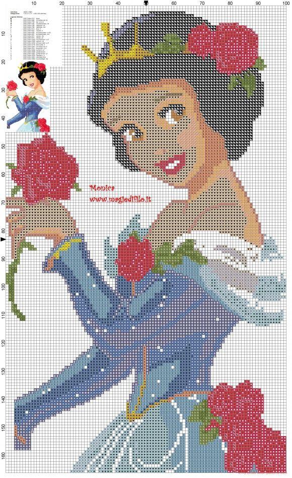 Schema punto croce Biancaneve principessa (click to view)