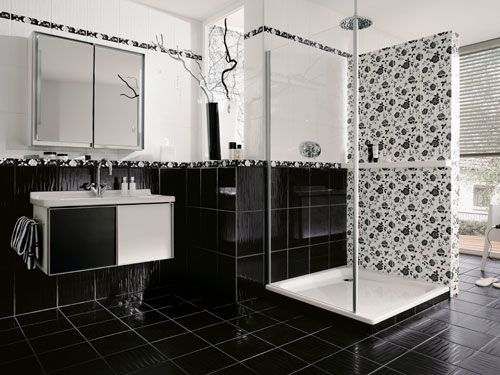 21 best images about tile and natural stone on pinterest - Bad Schwarz Weiss