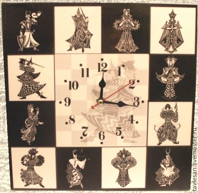 """Купить Часы настенные """"Рыцари и дамы"""" - часы настенные большие, часы настенные мужские"""