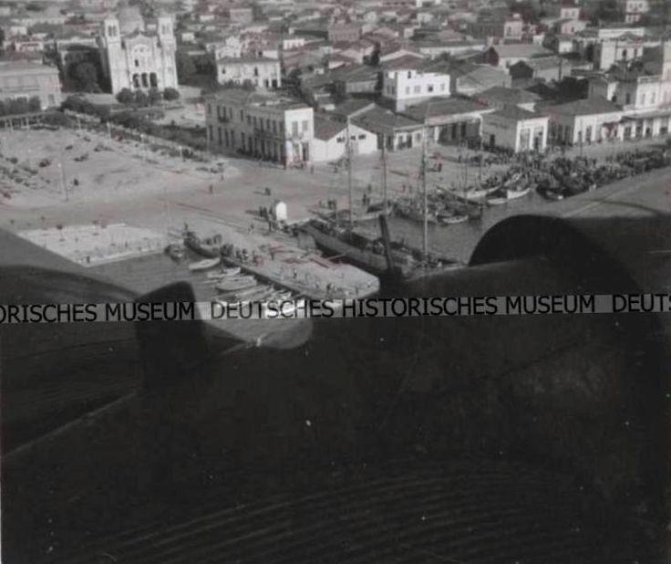 Greece,Chalkis 1942 Ελλάδα-Χαλκίδα επι κατοχής τραβηγμένη απο Γερμανικό αεροπλάνο.1942