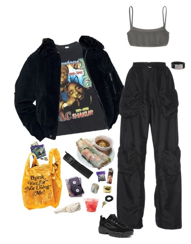 """""""angels live in the bronx"""" by sleepyclean ❤ liked on Polyvore featuring J.W. Anderson, Prada, Fila and INC International Concepts"""