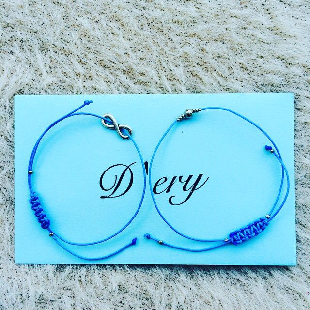 Blue bracelets with envelope 💙
