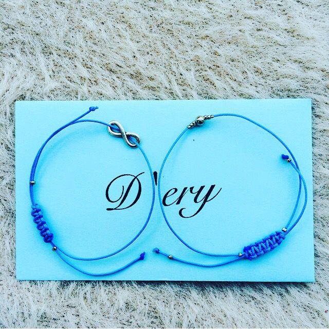 Blue bracelets with envelope 💙