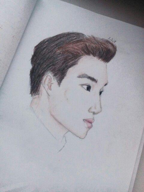 Exo Kai drawing :)))