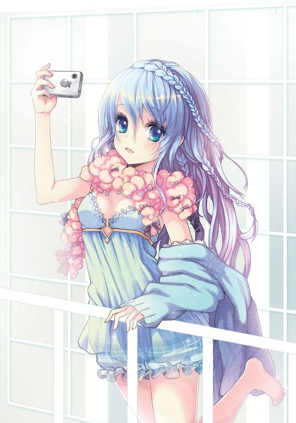 150 best selfie this images on pinterest - Anime girl on phone ...