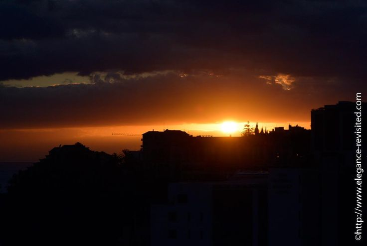 sunset in Funchal