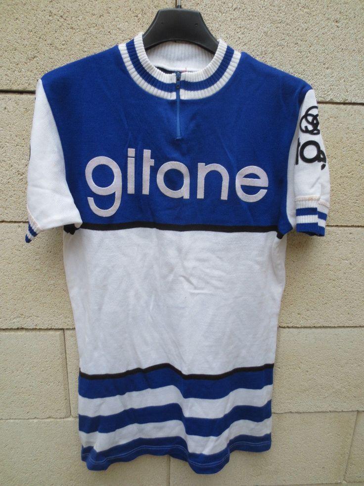 Vintage Maillot Cycliste Gitane Années 70 Tour DE France Cycling Jersey M Maglia | eBay