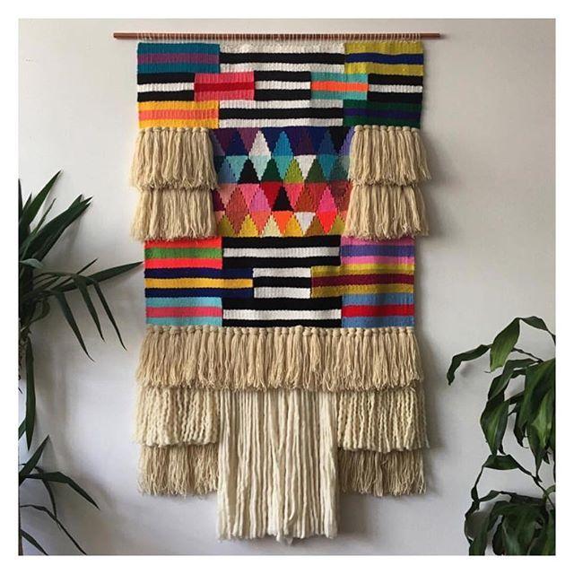 The incredibly talented Brooklyn based weaver @maryannemoodie is visiting Byron…