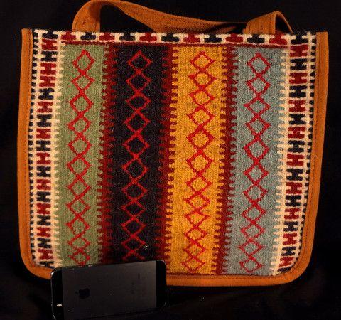 Handmade Kilim Bag, Colorful Natural Wool - Persian Souvenir  - 1