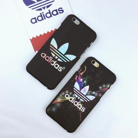 アディダス iPhone7/SE ケース 夜光 ハード Adidas アイフォン6sカバー ペア 宇宙柄 人気 安い