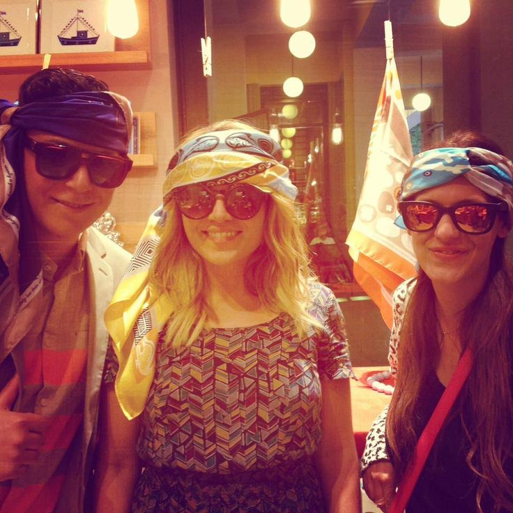 """""""Fashion Reporter"""" at Liana Vourakis boutique, at the presentetation of the new silk scarf specially designed by Grecian chic!"""