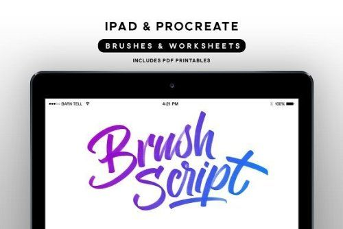 designeour:    Brush Script Bundle for Procreate by Ian Barnard...