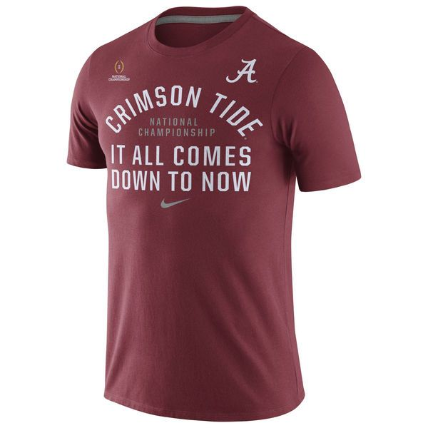 Alabama Crimson Tide Nike 2016 College Football Playoff National Championship Game Bound Now T-Shirt - Crimson - $19.99