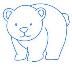 baby-ijsbeer stap voor stap tekenen