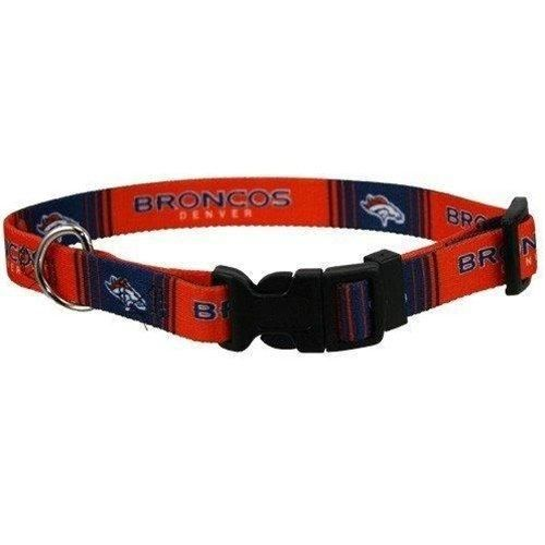Denver Broncos Football Printed Dog Collar - Navy