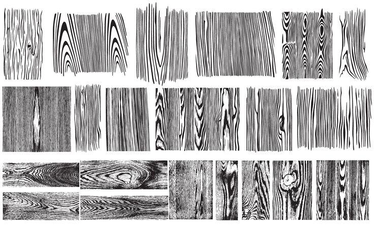 Wood Grain Vector Pack by Go Media on Creative Market