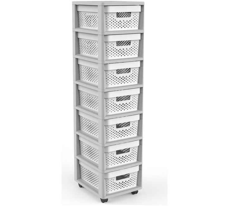 Buy Curver Infinity 7 Drawer Storage Tower   Grey U0026 White At Argos.co.