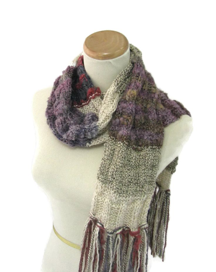 Crochet Vs Knit Scarf : Scarf, Hand Knit Scarf, Knit Scarf, Tan Brown, Fiber Art, Winter Scarf ...