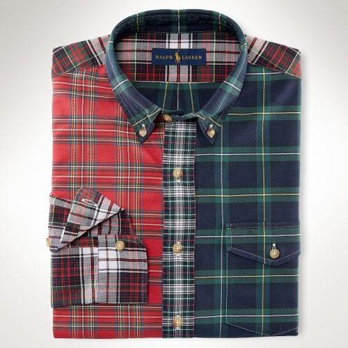 ef710b2855 Uomini - Camicia a quadri Oxford Fun Sport - Maglie maniche cort ...