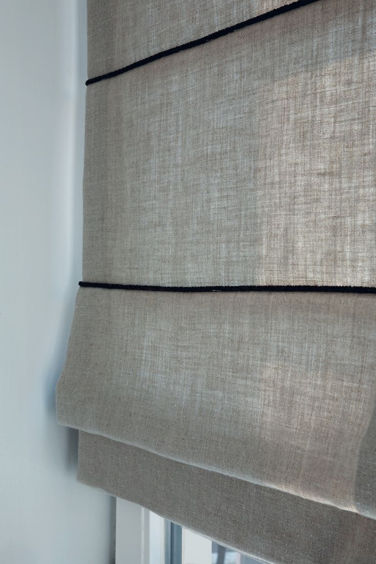 Decorate your windows with a tailored, textured look for Roman Shades.  #grey #fabrics #roman shades#luxaflex #home decor