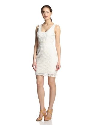 63% OFF Hale Bob Women's Sleeveless Lace Dress (Ivory)