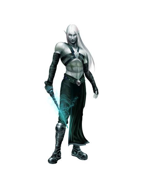 Albino Drow or Pale Elf???   Definitely Albino Drow. But drows are a form of elf so it doesn't really matter anyway.