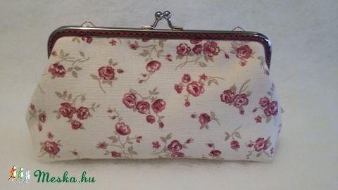 Meska - Bordó virágos pénztárca solba66 kézművestől