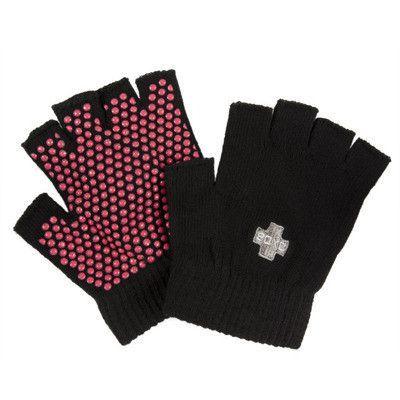 Damskie rękawiczki do jogi Czarne - Joga \ Pozostałe akcesoria Odzież \ Skarpetki i rękawiczki - sklepYoga Bazar