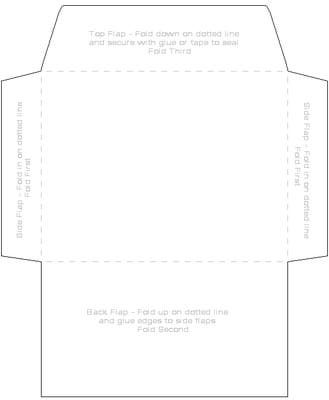 4x6 Envelope Template *Great template but I recommend cutting the back flap at an angle on each side, so it looks a little cleaner when the top flap is folded down.