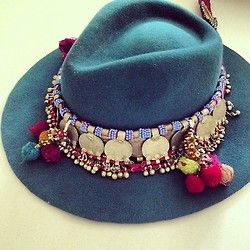Thought I really don't wear hats much, if at all, I think many are really cute like this boho hat.