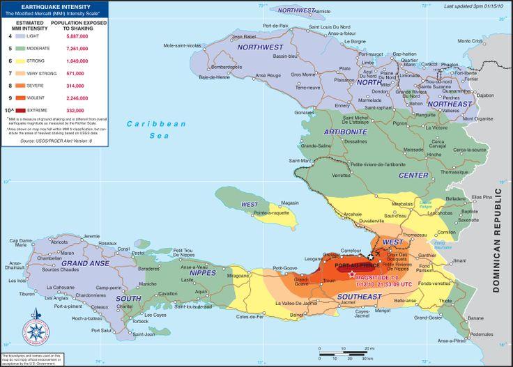 Haiti Earthquake Map   Description 2010 Haiti earthquake USAID intensity map 2.svg