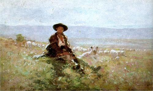 Nicolae Grigorescu (1838 - 1904) | Impressionism | On a Peak