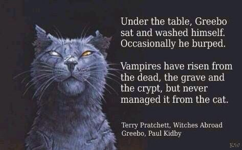 Quote from Witches Abroad by Terry Pratchett.  Art by Paul Keep day.  Poster by Kim White.