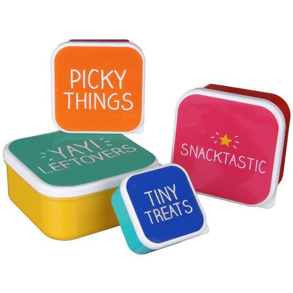 Happy Jackson Snack Boxes - Set of 4