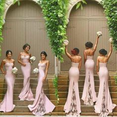 Vintage Blush Lace Stain Spaghetti Mermaid Long Beach Bridesmaid Dresses 2016 New Trend Backless Maid Of Honor Wedding Guest Dress Long Black Bridesmaid Dresses Mauve Bridesmaid Dresses From Gaogao8899, $82.93  Dhgate.Com