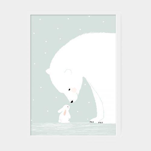 Affiche Ours polaire sur Plumeti