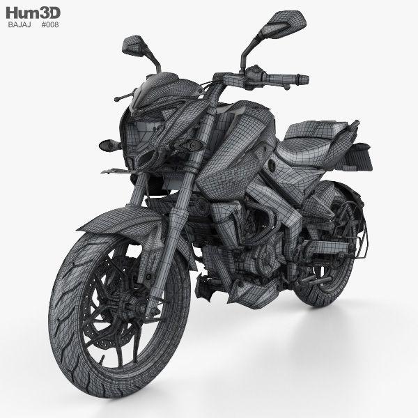 3d Model Of Bajaj Pulsar Ns200 2018 Bike Sketch Pulsar Biker Art